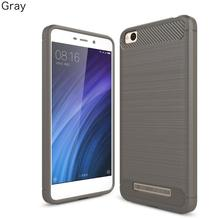 For xiaomi redmi 4a case Hybrid Super armor Carbon Fiber Texture Brushed Soft Silicone Cover for redmi 4 pro phone case ( XX89)