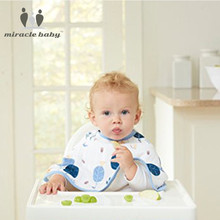 MIRACLE BABY 2PCS/LOT Cotton Muslin Super Absorbent Burp Cloth Multifunction Feeding Burpy Bibs kid's Scarf Towel Newborn Unisex(China)