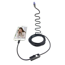 1.5m Hard Cable Android Endoscope Camera 7mm Lens Hard Wire 6LED Waterproof USB Endoscope Camera Snake Industrial Endoscope
