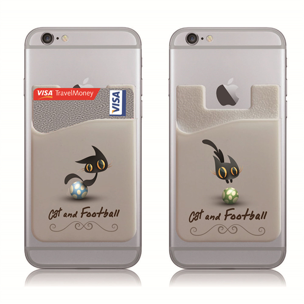 Phone Card Holder, Credit Card Holder on the Back of Phone and Case of LG, Piexl, HTC, BLU, Sony, Motorola, Huawes and most Smart Phones
