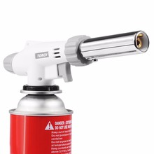2017 New Gas Torch Flame Gun Blowtorch Cooking Soldering Butane AutoIgnition gas-Burner Lighter Heating Welding gas burner flame(China)