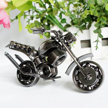 Retro style decoration gift Handmade Metal Motorcycle Model Toys for Children