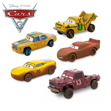 Disney Pixar Cars 3 Crazy Crashed Party Alloy Car Toys Lightning McQueen Dinoco Cruz Ramirez Mater Toy Car Best Children Gift(China)