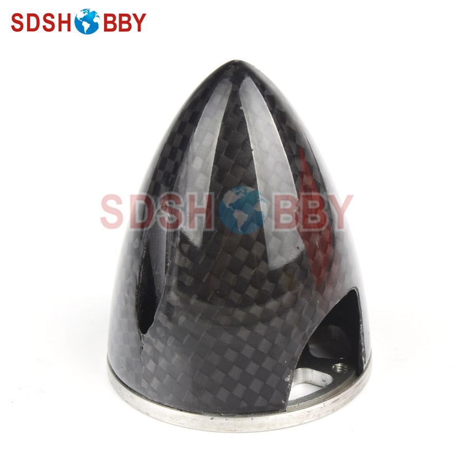 """Carbon Fiber Spinner 2.5/"""" //63.5mm For electric Airplane W// Alu Back Plate"""