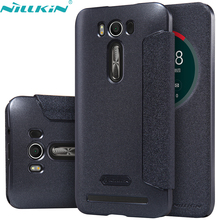 For Asus Zenfone 2 Laser ZE500KL Cover 5.0'' ZE500KG Leather Case NILLKIN Quality Hard PC Back Cover Flip Smart Sleep Phone Case(China)