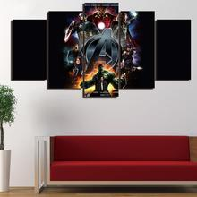 5 Panel Framed HD Printed Comic Hulk Marvel Movie Wall Art Picture Modern  Home Decor Living Room Canvas Painting