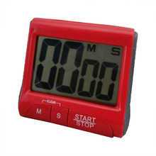 New Large LCD Digital Kitchen Timer Count-Down Up Clock Loud Alarm red
