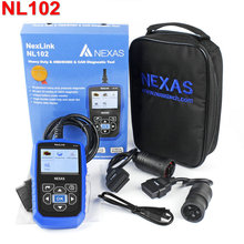 Nexlink NL102 Car Truck OBD Diagnostic Tool 2 in 1 Automotive Diagnostic Scanner For Gasoline Diesel Heavy Duty Free Shipping