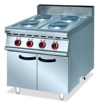 Super quality stainless steel commercial vertical eletric 4 hot plate with cabinet cooker food kitchen equipment factory