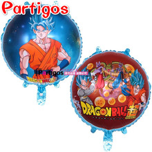 10pcs 18 inch Double side Dragon Ball Foil Balloons Super Hero globs Cartoon Birthday Party Decorations Kid Toys Supplies(China)