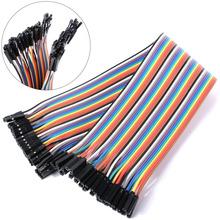Free shipping Dupont line 40pcs 30cm female and female jumper wire Dupont cable Color Breadboard Cable