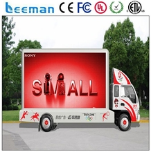 Leeman P4 outdoor mobile advertising truck led display / truck led display/ hd trailer vehicle led display