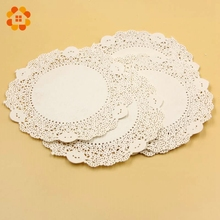 5.5'' Inch 50PCS/Lot Eco-Friendly Grease-Proof White Paper Doilies For Home Wedding Birthday Christmas Party Table Decoration(China)