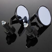 "Universal 7/8"" Round Bar End Rear Mirrors Moto Motorcycle Motorbike Scooters Rearview Mirror Side View Mirrors Cafe Racer"