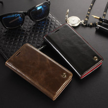 For coque Xiaomi Redmi 4X Case Luxury Genuine leather Flip Phone Bags Magnetic buckle wallet cover Skin Mobile redmi 4x case(China)