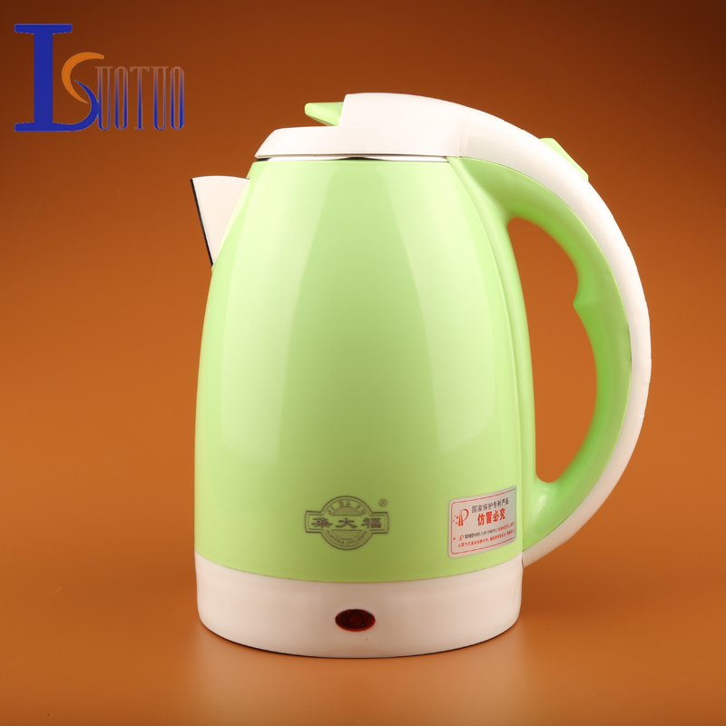 JDC-2000A  2L  Stainless Steel Cordless Electric Water Kettle Quick Heat  Water Heating Kettle green<br>