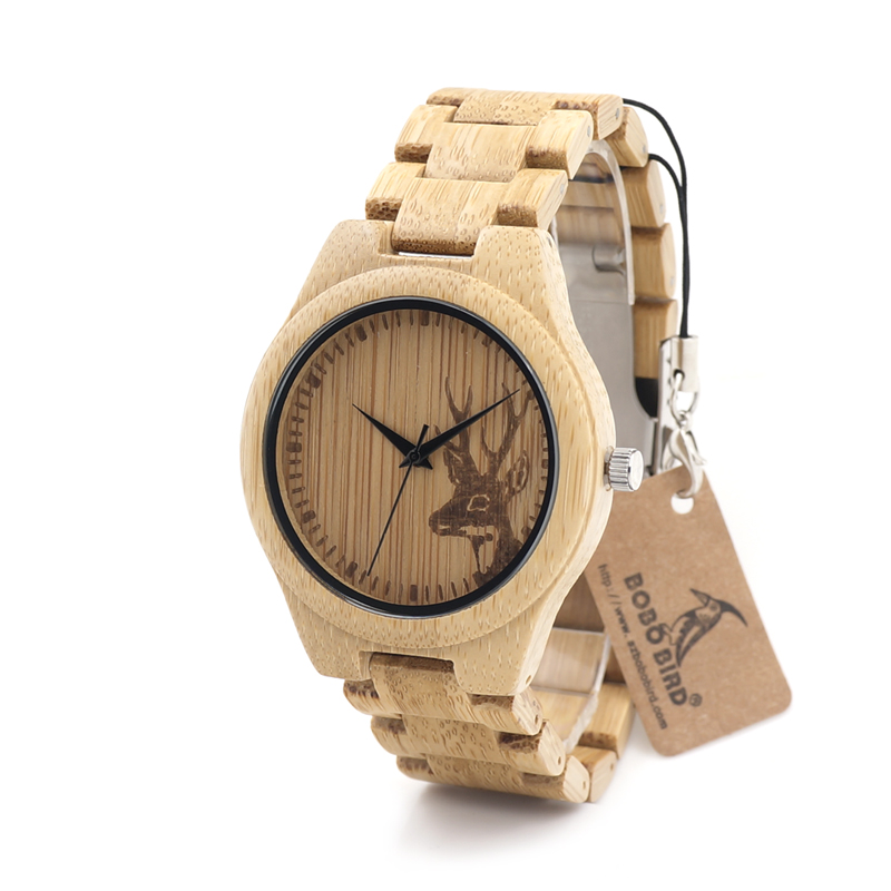 BOBO BIRD D28 Couples Bamboo Wooden Watch with Wood Strap Quartz Analog with Quality Miyota Movement Tri-Fold Clasp<br><br>Aliexpress