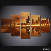 Hd Printed Chicago Late Evening Painting Canvas Print Room Decor Print Poster Picture Canvas Free Shipping/Ny-4522 Christmas(China)