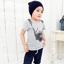 boys t-shirt Short Sleeve Camera pattern boys Tops O Neck T Shirt Tees Clothes Boys clothing clothes T-shirt Boy Summer clothes