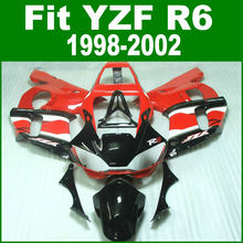 Red Fairings For YAMAHA R6 98 - 02 Abs Fairing kit ( yellow ) free shipping & customize ll20