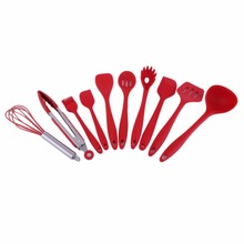 New Arrival 10Pcs/Set Household Kitchen Silicone Cooking Utensil Set High Temperature Resistant Kitchen Tool Set Cooking Tools(China)