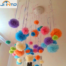 Wholesale 6 inch Handmade 20 colors Wedding Paper Flowers Ball Pom Poms For Wedding & Home Decoration