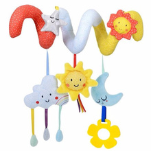 JJOVCE Infant Toys Baby Crib Revolves Around Bed Stroller Playing Toy Crib Lathe Hanging Baby Rattles Mobiles 0-12 months 50%(China)