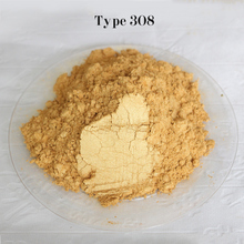 Type 308 Gold  Pigment Pearl powder dye ceramic powder paint coating Automotive Coatings art crafts coloring for leather
