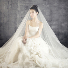Pure white and Off white/Light ivory wedding veil bridal shawl net tulle mesh fabric 5 meters length 1.5 meters&3 meters width