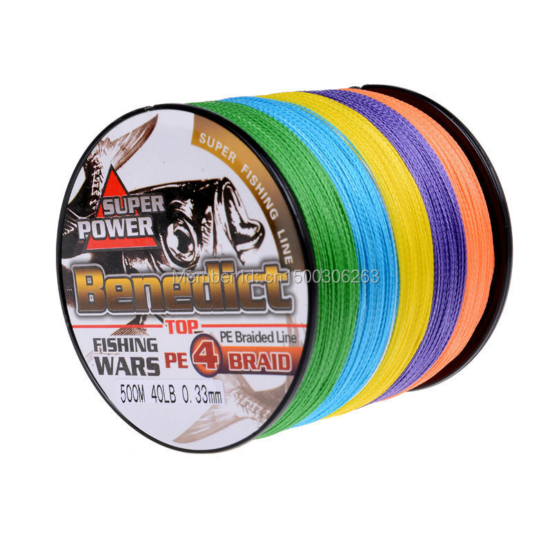 high quality  super strong Multi-color Japan Pe Multifilament  Braided Fishing Line 500M  braided wire Free Shipping<br><br>Aliexpress