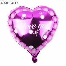 GOGO PAITY Free Shipping New 1pcs aluminum balloons valentine love toy balloons party decoration wholesale(China)