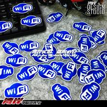High quality For wifi blue  car Reflective sticker and decals hellaflush fatlace cool modified accessories