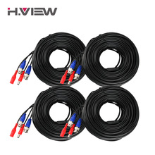 H.View 4PC 30m 100ft CCTV Cable BNC & DC Plug Video Power Cable for Wired AHD Camera DVR Video Surveillance System Accessories(China)