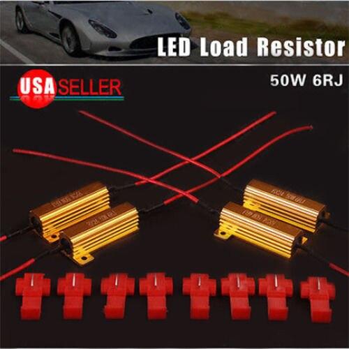 4 x 50W 6ohm Load Resistors For Hyper Flash Turn Signal Blink Blinker LED Bulb<br><br>Aliexpress