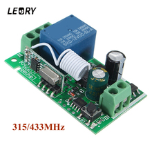 LEORY Smart Home DC 12V 220V 10A 315/433MHz Channel Wireless Relay RF Remote Control Switch Heterodyne Receiver Top Quality(China)