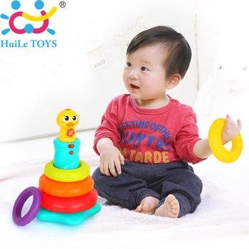 Nouveau Enfants Rainbow Empilage Canard Bébé Jouet avec Anneau Coloré Gerbeurs avec Musique, sons et Lumières Grand Bébé Enfant Jouet Cadeaux