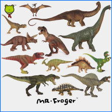 Mr.Froger Dinosaur modeling Set Jurassic Toy Children Animal Model Toy Science Education Solid plastic PVC T-REX DIY Kids Gift