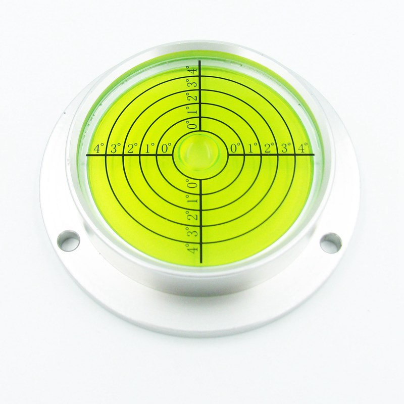 HACCURY Big Circular Metal Spirit Level Round Level Bubble 90*71*20.5 MM for Construction Machinery Measurement Instrument 1 PCS<br>