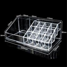 19 Grids 4 Layer Drawers jewelry Cosmetics Organizer Makeup Organizer Lipstick Holder Acrylic Case Box Crystal