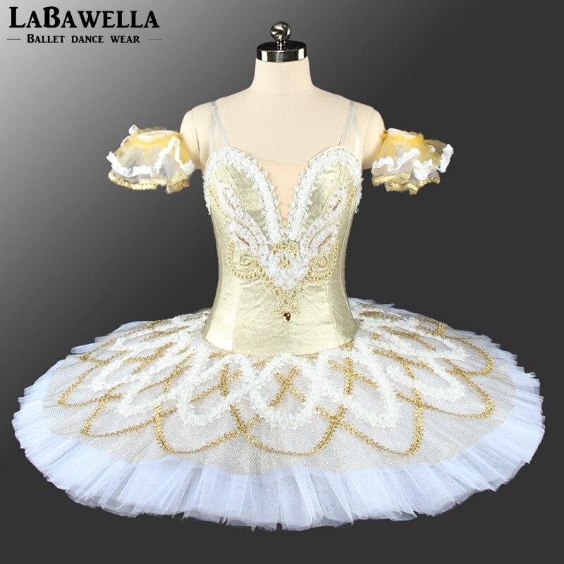 Gold Snow Women Nutcracker Professional Ballet Tutu Adult Sleeping Beauty Ballet dress Swan Lake Classical Ballet CostumesBT9154
