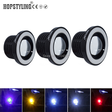 "Hopstyling 3"" (7.6cm) COB Angel Eyes Fog Lights Led Car Headlight Lamp DRL Universal Daytime running light 89mm 76mm 64mm(China)"