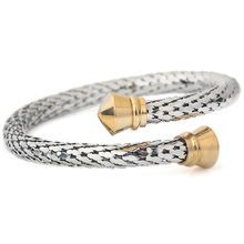 2 Colors Trendy Vintage Stainless Steel Skeleton Statement Cuff Lace Bangles & Bracelets for Women