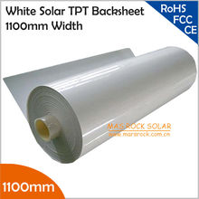 5Meter/Lot Wholesale 1100mm Solar Back Sheet, 0.35mm Thickness PV Back Sheet, Solar White TPT for Encapsulation Solar Panel, TUV(China)