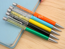 1pc Colorful boutique Crystal products SILVER TRIM NEW fashion BALLPOINT PEN(China)