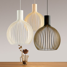 LED Lamp Chinese Style Pendant Light Modern Brief Birdcage Wrought Iron Pendant Light Lamps LED Single Head Lights(China)