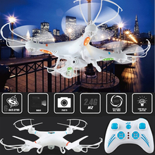 Quadcopter With Camera Drone 6Axis 2.4G 4Channels Dron Quadrocopter RC Helicopter Remote Control Toys Gyro Helicoptero(China)