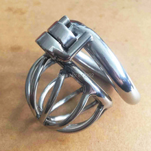 Buy Screw Lock Ergonomic Design Stainless Steel Male Chastity Device Super Small Cock Cage Penis lock Cock Ring Chastity Belt Toys