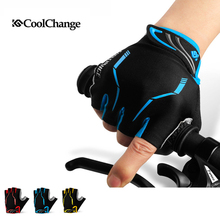 Coolchange Anti-shock Gel Summer Half Finger Cycling Gloves Breathable Sport Gloves Mountain Nylon Bike Bicycle Gloves