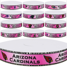 Dobro 13 Choices Pink Zebra Series 01 American Football Sport Team Printed Grosgrain Ribbons for Hair DIY Craft Party Decoration(China)