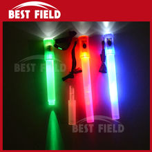 Free shipping 2pcs/lot 4in1stick LED glow stick whistle flashing stick led stick flash wand light stick rescue whistle(China)